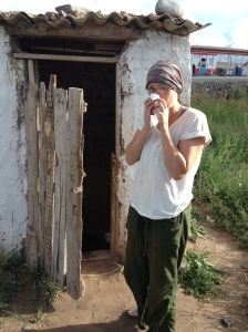 The glamourous life of a biologist: while on fieldwork in Kyrgyzstan we sometimes even had the luxury of toilets surrounded by walls!