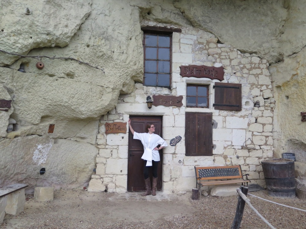 Troglodyte caves!  Closed for the winter season, but that doesn't mean it isn't still shirting season!