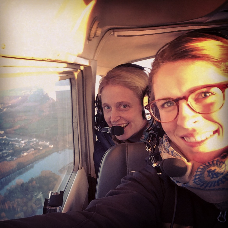 Us on the Cessna