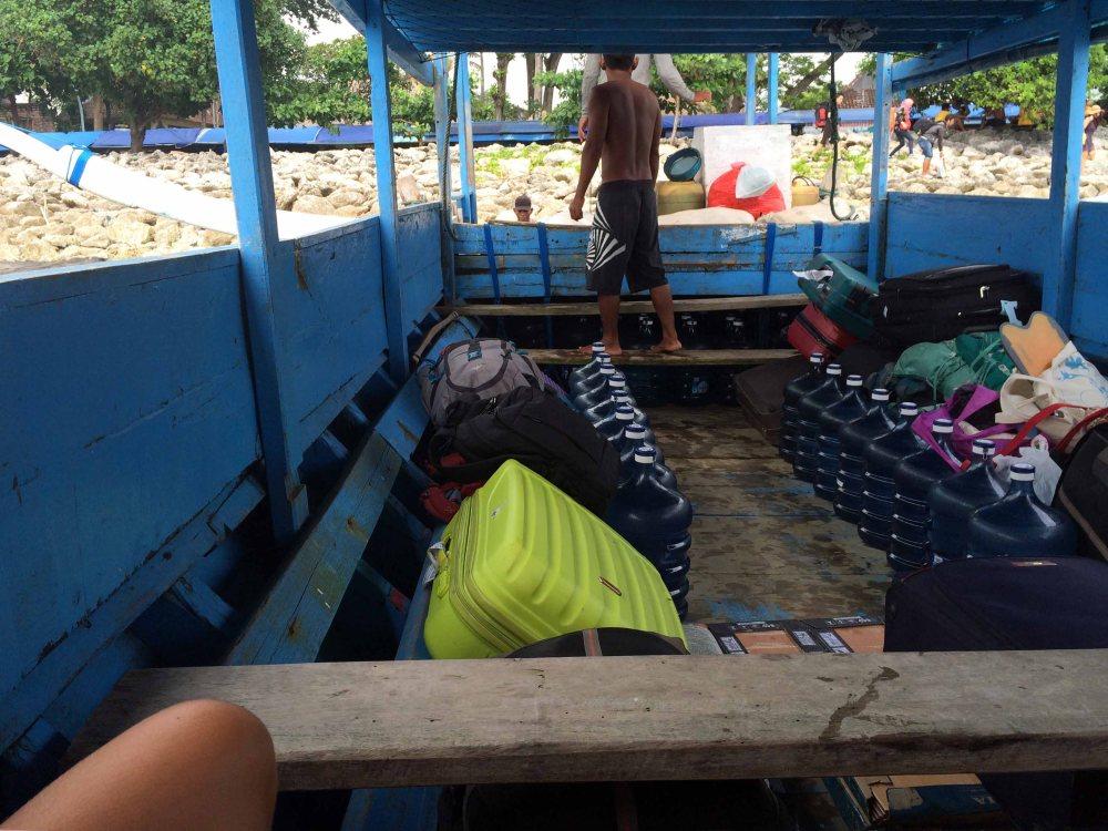 Slow boat Lembongan Island Indonesia