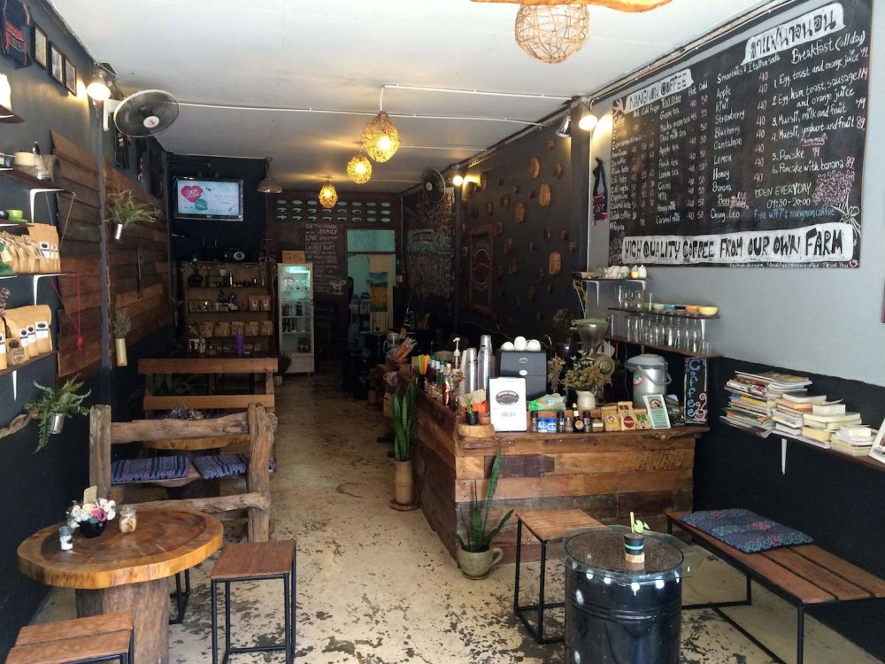 Chiang Rai coffee shops for digital nomads Nangnon