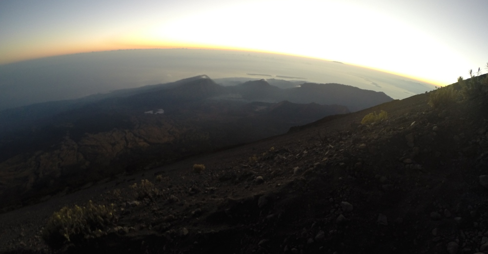 Dawn from Mt Rinjani