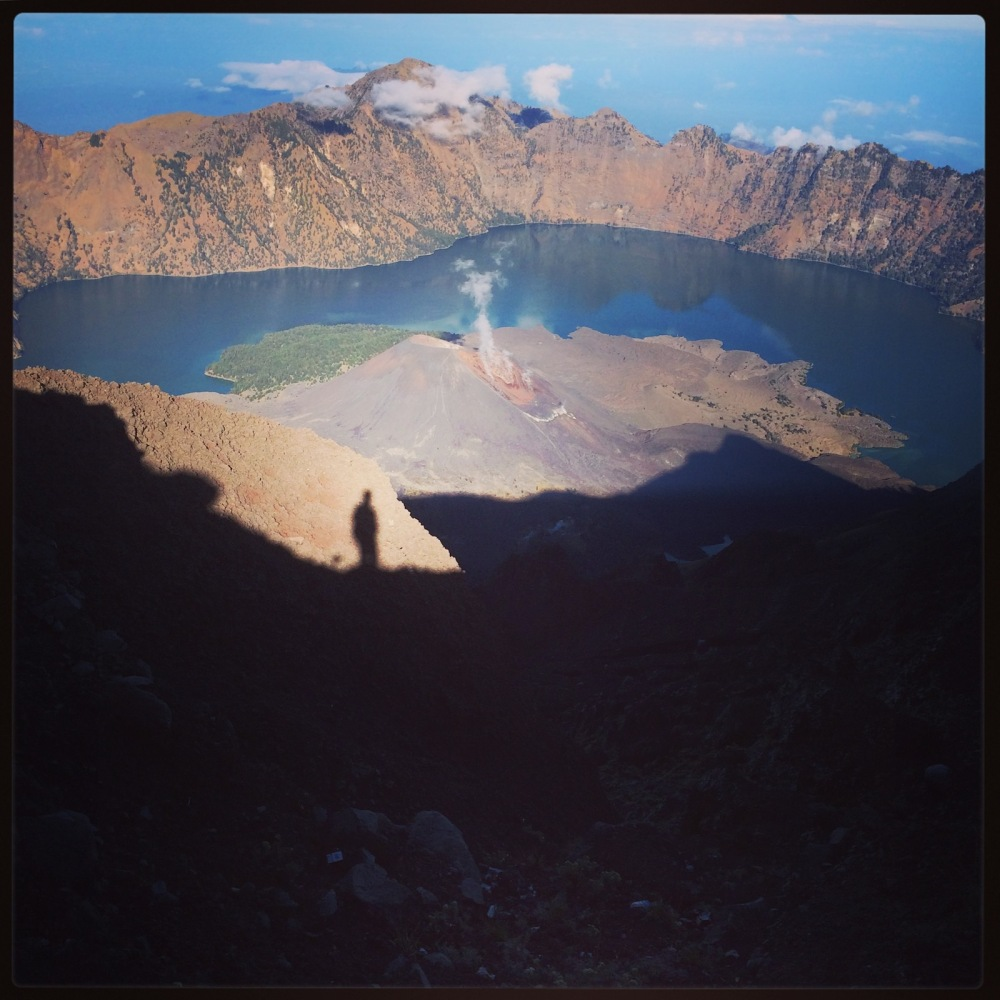 Shadow selfie on Mt Rinjani
