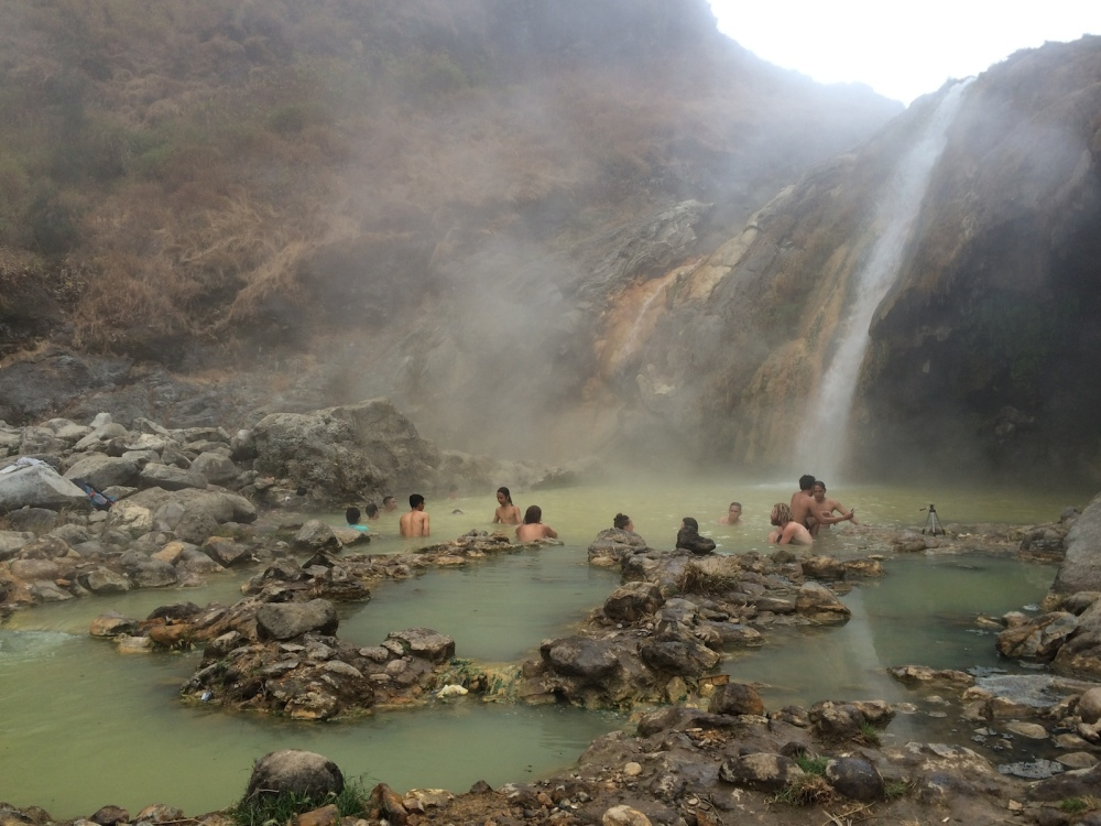 Rinjani hot springs near the crater lake