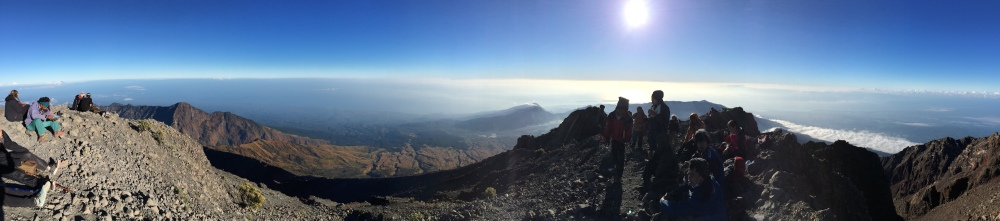 View from the top of Mt Rinjani