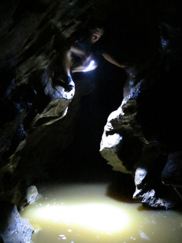 Climbing in the caves