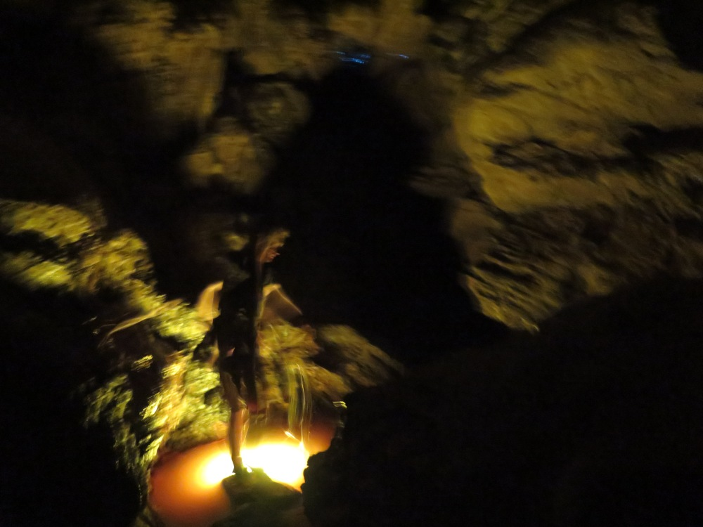 In the caves